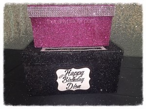 Glitter and Bling Card Box