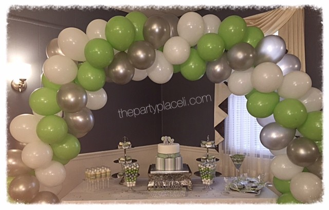 Green and White Baby Shower