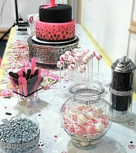 pink and black candy