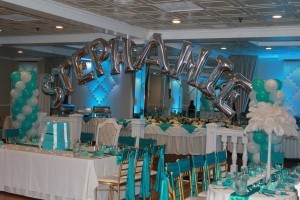 Tiffany Blue Columns