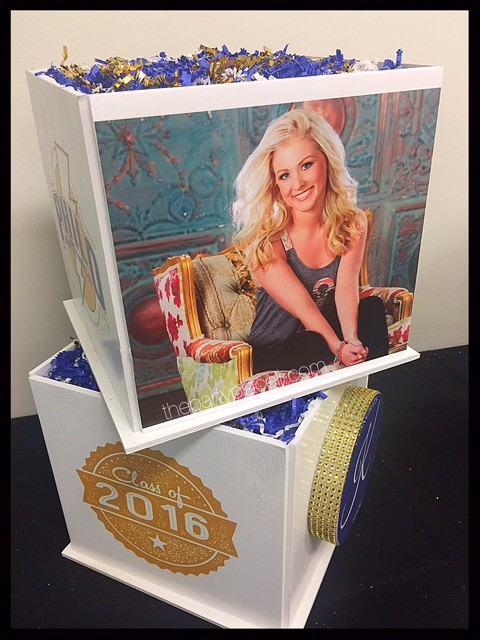 Graduation Picture Cube Centerpiece