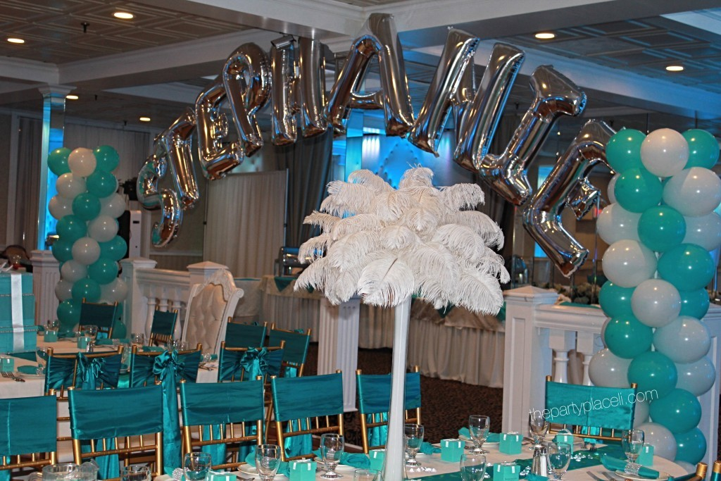 Tiffany Blue Columns And Name Arch