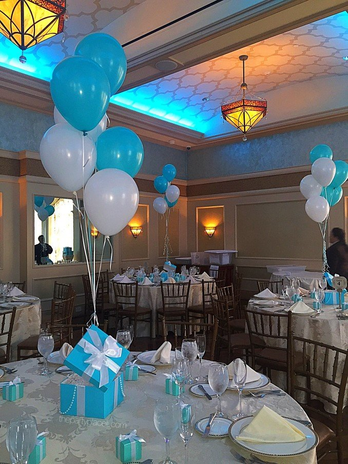 Tiffany theme sweet 16 decorations