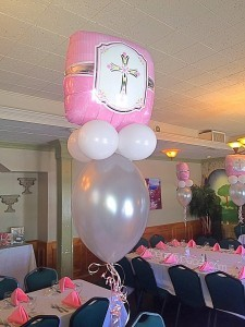 Communion balloon Centerpieces