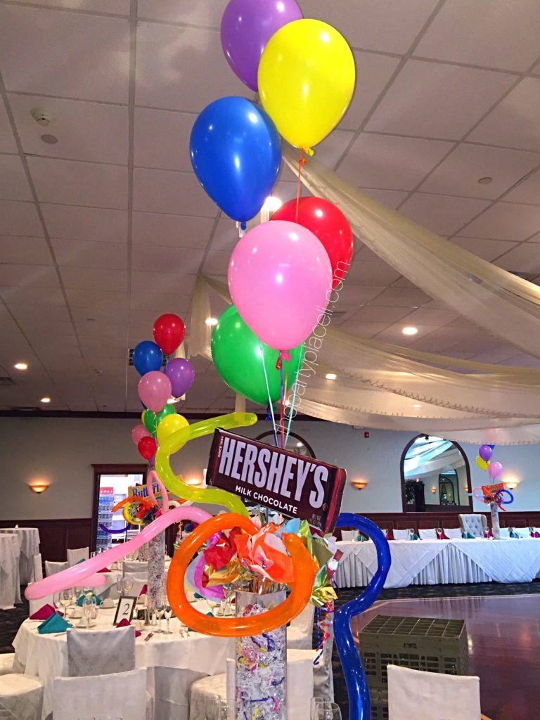 Shopping Theme Centerpieces