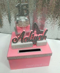 Tiara and heels card box