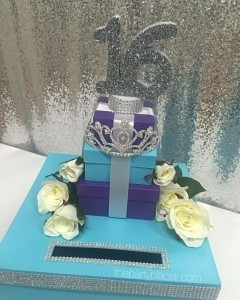 Floral and tiara card box