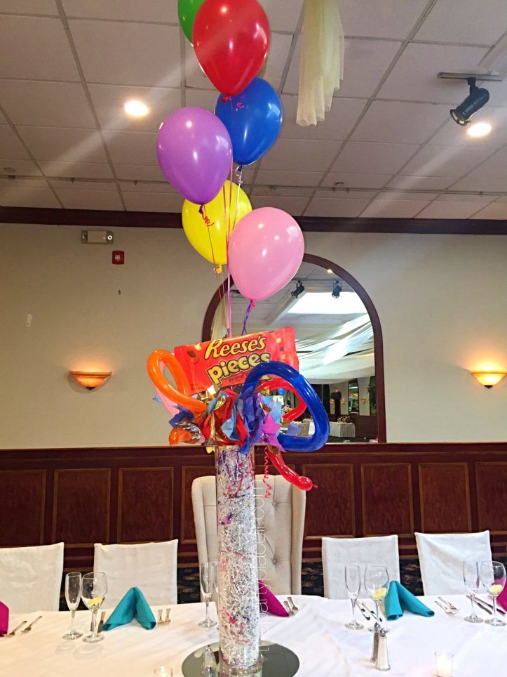candy theme centerpieces mitzvah