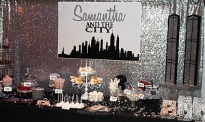 City sweet 16 candy buffet