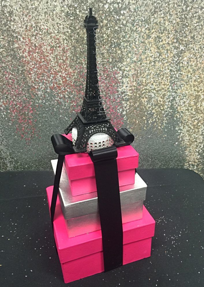 Paris Box Stack Centerpiece
