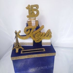 Paris theme quince card box