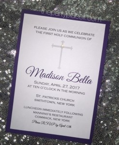 Communion Cross Crystal Invitation
