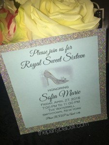 Royal Sweet 16 Invitation