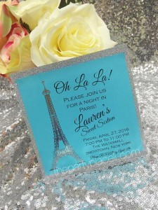 Paris Theme Sweet 16 Invitation