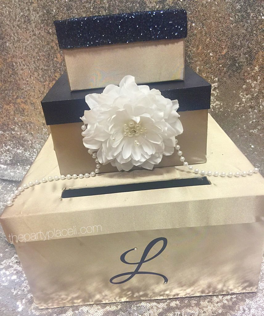 Satin Card box with Swarovski crystal