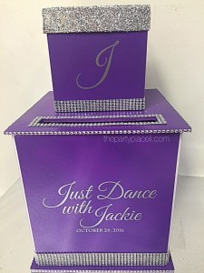 Bat Mitzvah Card Box with Bling