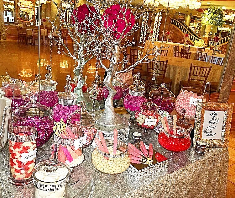 Pretty in Pink Candy Buffet