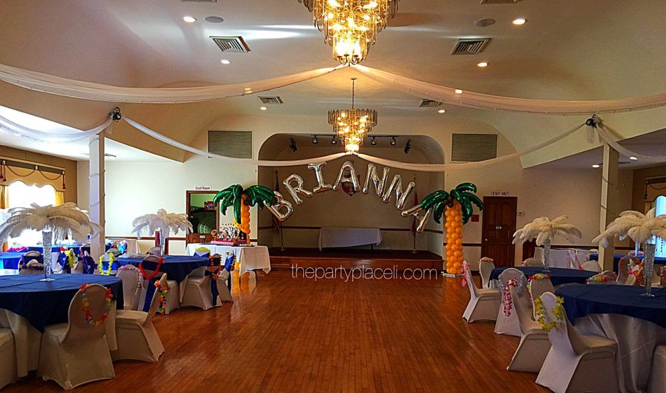 Luau themed sweet 16