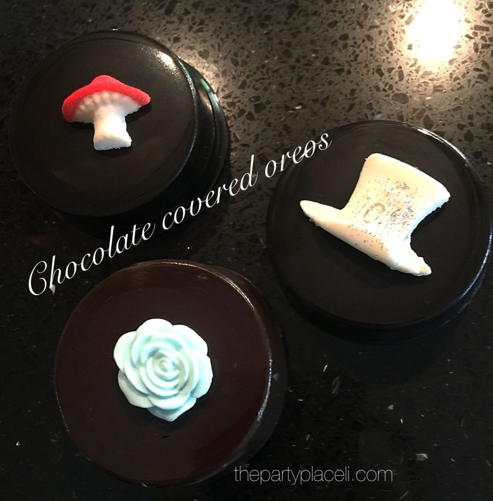 Chocolate covered oreos candy buffet