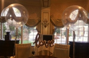 Jumbo balloons with love banner