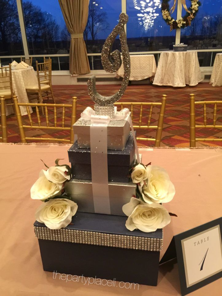 White roses initial centerpiece