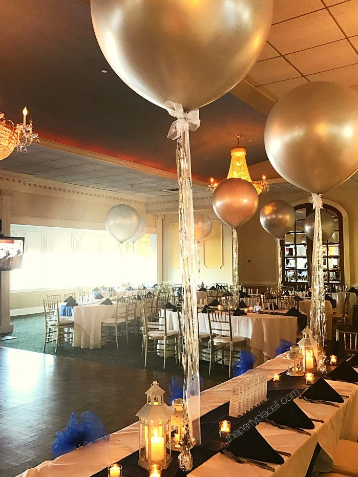 Jumbo balloons with metallic tassels