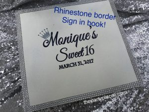 SWEET 16 SIGN IN BOOK