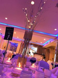 Winter wonderland glam centerpieces
