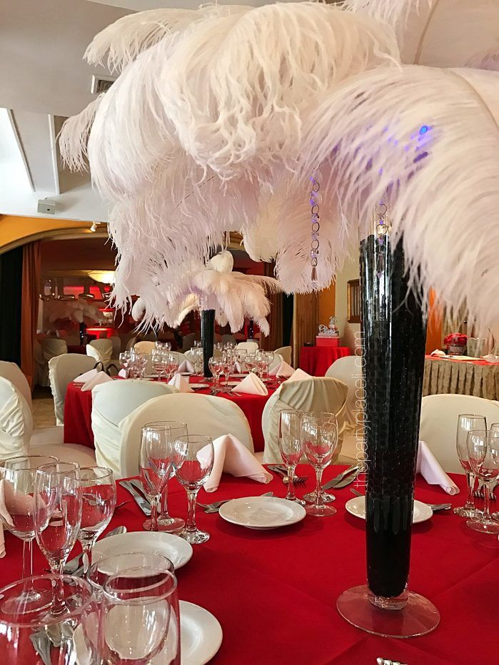 Feather Centerpieces The Party Place Li The Party Specialists