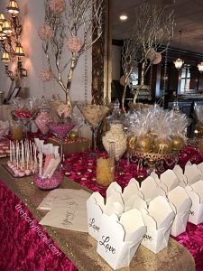 Wedding Candy Buffet Pink and Gold