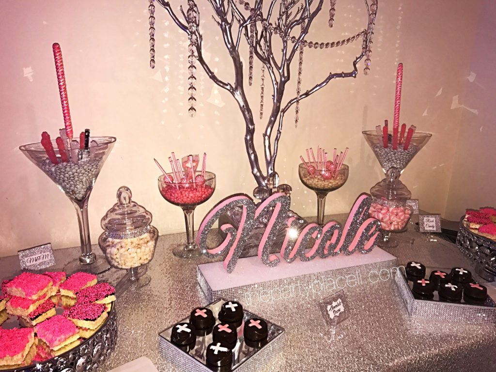 Masquerade Theme Candy Table For A Sweet 16
