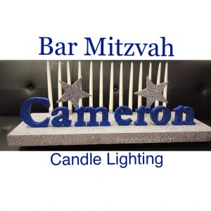 Bar Mitzvah Candle Lighting Centerpiece