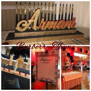 BURBERRY THEME SWEET 16