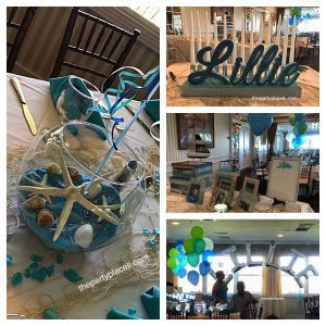 Under the sea themed Bat Mitzvah