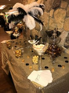 Great Gatby themed candy buffet