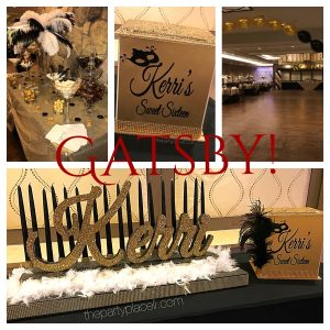 Gatsby Themed Sweet Sixteen