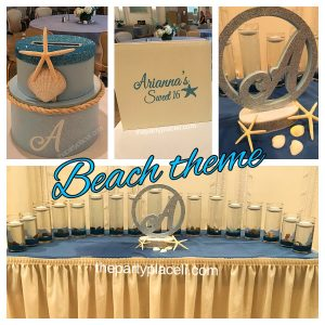 Beach themed sweet 16