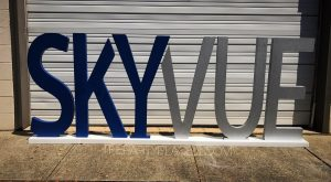 Custom freestanding letters