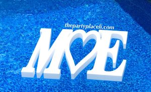 Wedding Floating Pool Letters