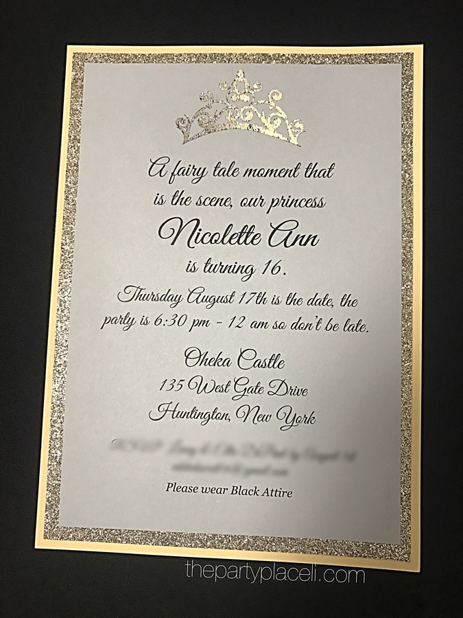 sweet 16 invitation princess the party place li the party