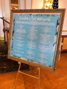 Place Card Board with Frame
