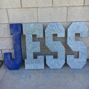 Extra large free standing letters