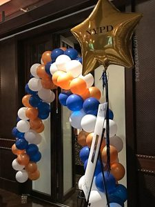 NYPD Themed Balloons with custom logo mylar