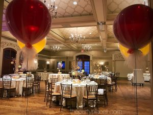 Jumbo balloons and centerpieces