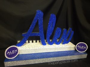 BAR MITZVAH CANDLE LIGHTING WITH LOGOS