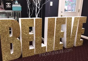 Large glitter letters
