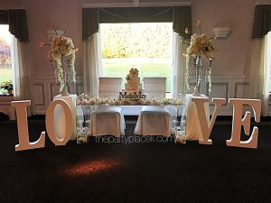 Wedding acrylic love table