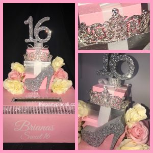 Princess Tiara Card Box Sweet 16