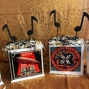 Bar Mitzvah Music themed centerpieces